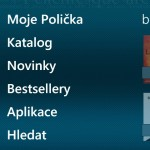 Hlavni menu Audioteky pro WP7