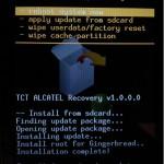 Hlavní obrazovka po nainstalování update.zip